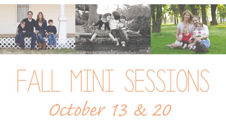 Fall Mini Sessions | Tulsa Family Photographer