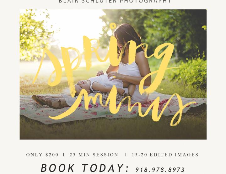 Spring Mini Sessions | Tulsa Photographer
